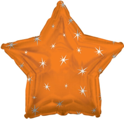 18 - METALLIC STAR W/STARS ORANGE