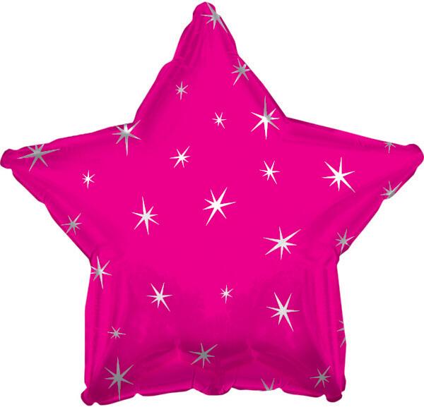 18 - METALLIC STAR WITH STARS HOT PINK