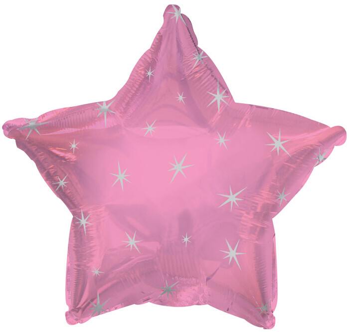 18 - METALLIC STAR WITH STARS PINK