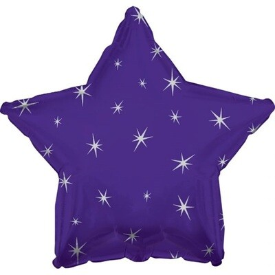 18 - METALLIC STAR W/STARS PURPLE