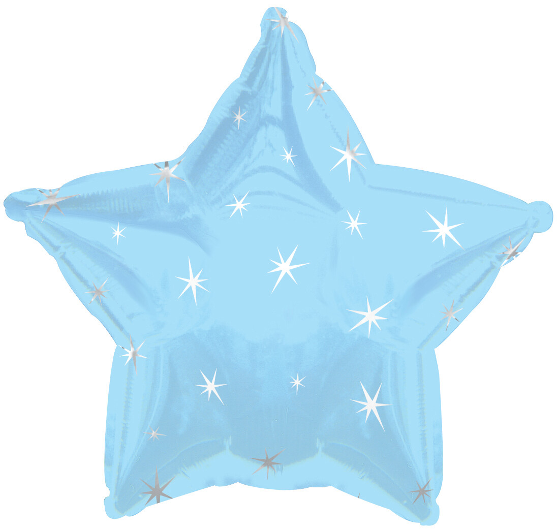 18 - METALLIC STAR WITH STARS POWDER BLUE