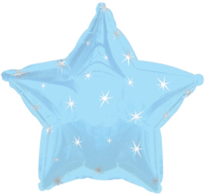 18 - METALLIC STAR W/STARS POWDER BLUE