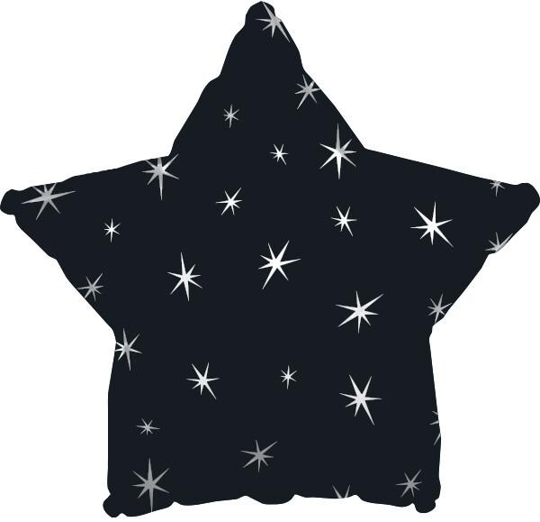 18 - METALLIC STAR WITH STARS BLACK