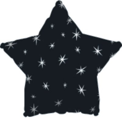 18 - METALLIC STAR WITH STARS BLACK