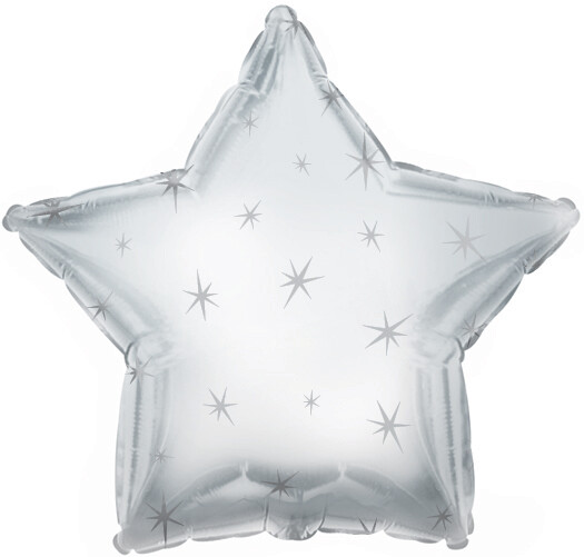 18 - METALLIC STAR WITH STARS PLATINUM SILVER