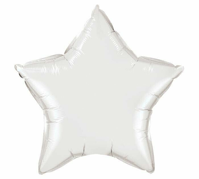 18 - METALLIC SOLID STAR WHITE