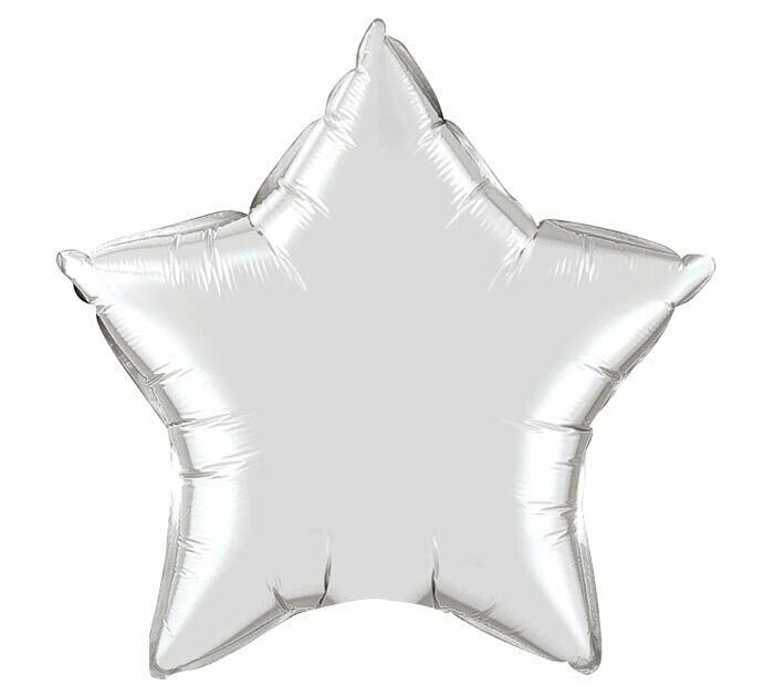 18 - METALLIC SOLID STAR SILVER