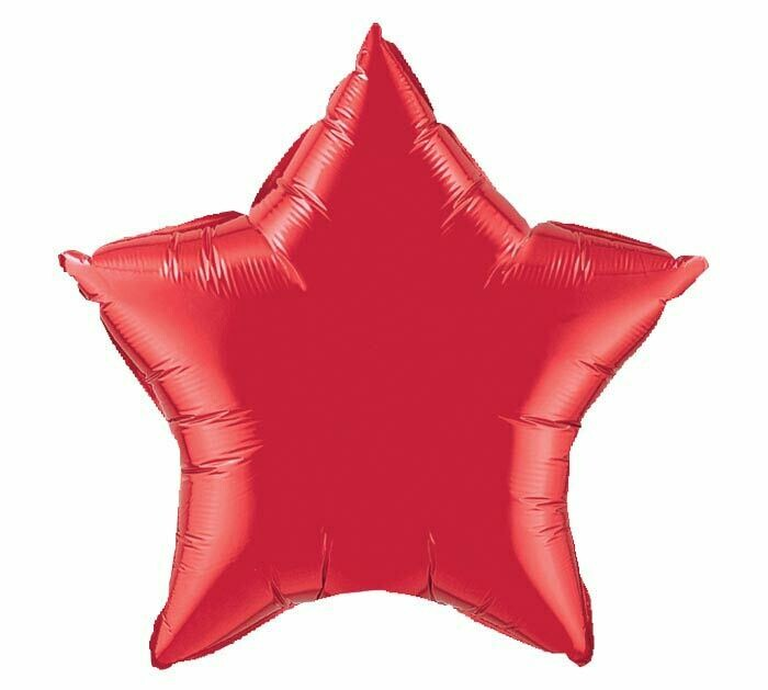 18 - METALLIC SOLID STAR RUBY RED