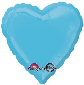 18 - METALLIC HEART SOLID CARIBBEAN BLUE