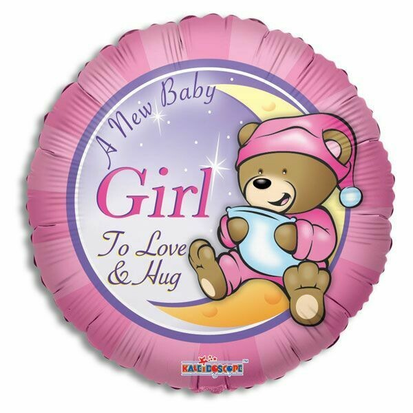 "18"" A NEW BABY GIRL TO LOVE AND HUG BALLOON"