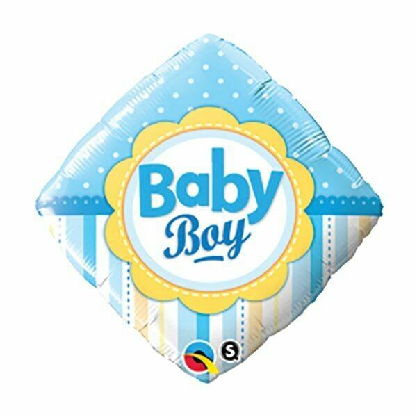 18 - FOIL BABY BOY DOTS STRIPES