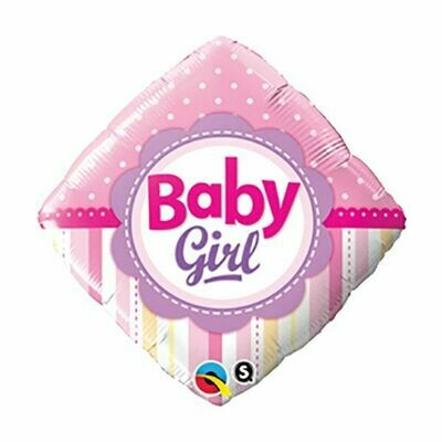 18 - FOIL BABY GIRL DOTS AND STRIPES