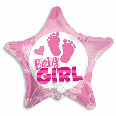 18 - STAR WITH FOOTPRINTS BABY GIRL