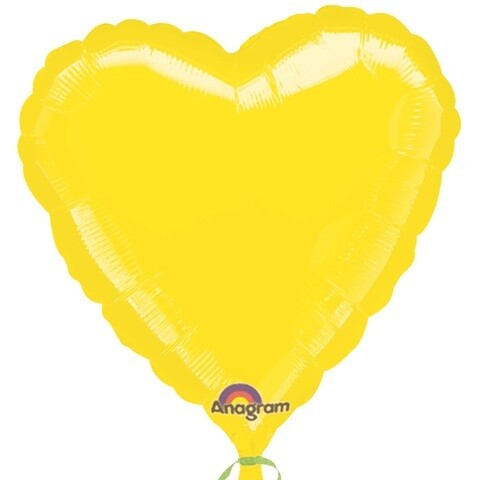 18 - METALLIC HEART SOLID YELLOW