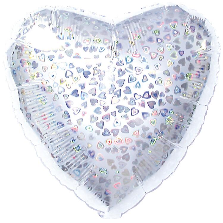 18 - HEART DAZZLELOON SILVER