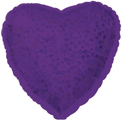 18 - HEART DAZZLELOON PURPLE