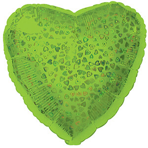 18 - HEART DAZZLELOON LIME GREEN
