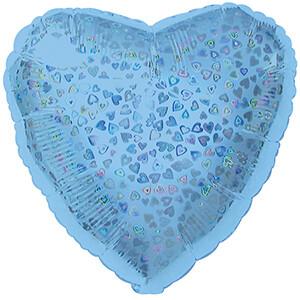 18 - HEART DAZZLELOON LIGHT BLUE