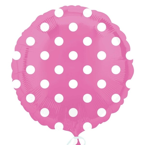 17 - COLOR WITH WHITE DOTS PINK 1