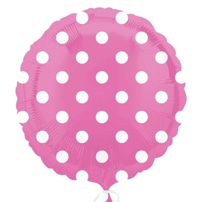 17 - COLOR W/WHITE DOTS PINK 1