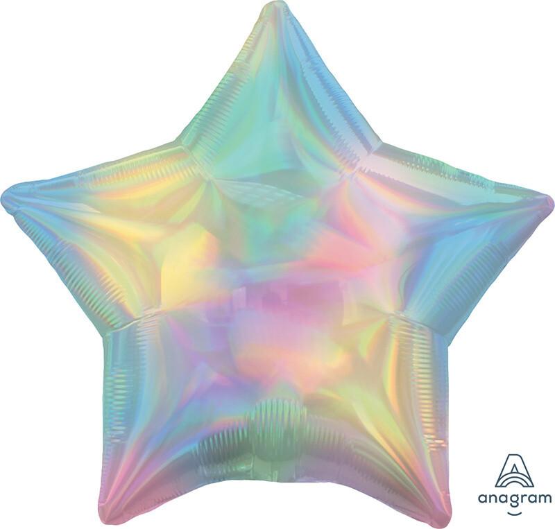 18 - IRIDESCENT STAR PASTEL RAINBOW