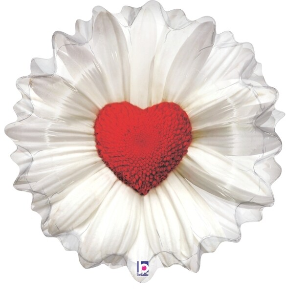 24 - DAISY WITH RED HEART CENTER