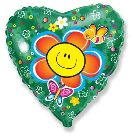 18 - HEART SMILEY FACE FLOWER