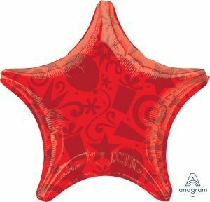 18 - SOLID FESTIVE STAR RED