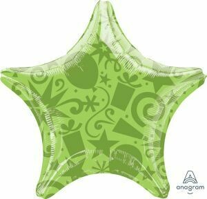 18 - SOLID FESTIVE STAR LIME
