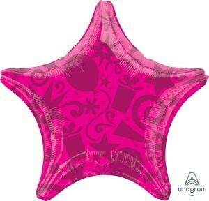 18 - SOLID FESTIVE STAR FUSCHIA