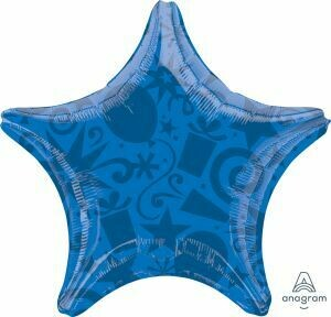 18 - SOLID FESTIVE STAR ROYAL BLUE