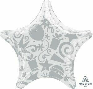 18 - SOLID FESTIVE STAR SILVER