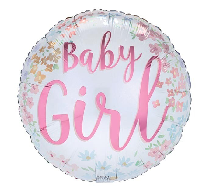 17 - BABY GIRL WITH PASTEL FLOWERS