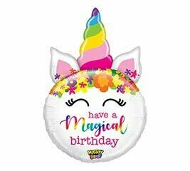 33 - MAGICAL BIRTHDAY UNICORN WITH FLOWERS