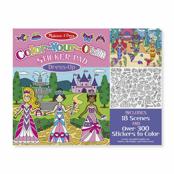 ACTIVITY PAD - COLOR YOUR OWN STICKER 9469-dress up