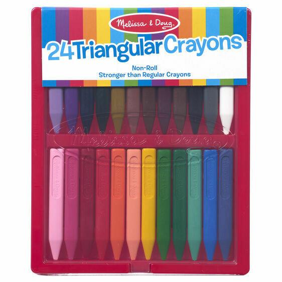 ARTS & CRAFTS - PADS & MARKERS 4136-TRIANGULAR CRAYON SET