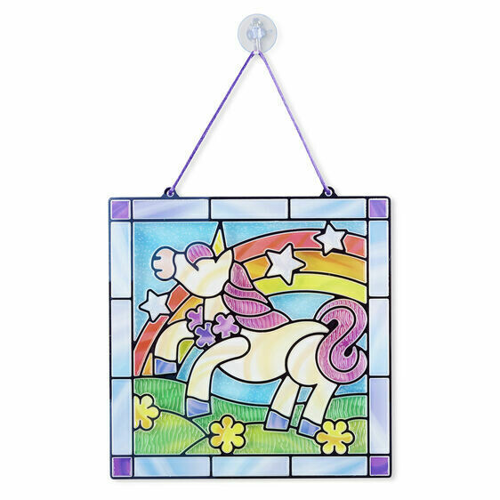 ARTS & CRAFTS - STAINED GLASS 9299-UNICORN