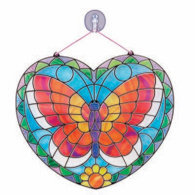 ARTS & CRAFTS - STAINED GLASS 9295-BUTTERFLY