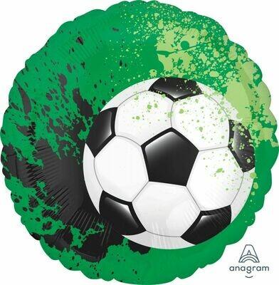 18 - SOCCER BALL GREEN PAINT SPATTER