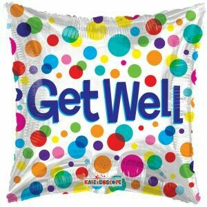 18 - SQUARE GET WELL DOTS
