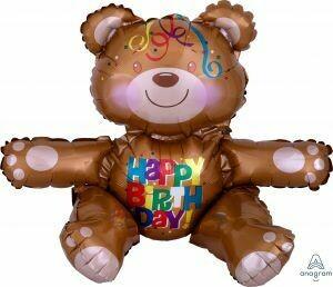 19 - SITTING BROWN BIRTHDAY BEAR