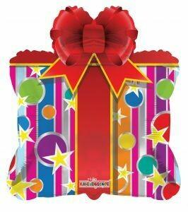 28 - FOIL BIRTHDAY GIFT BOX