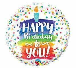 18 - HAPPY BIRTHDAY TO YOU CAKE & CONFETTI