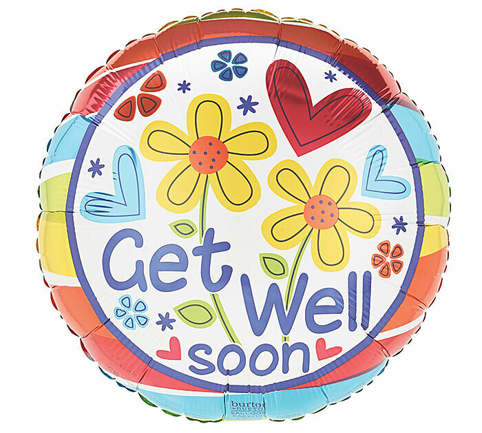 18 - GET WELL SOON FLOWERS & STRIPE OUTLINE