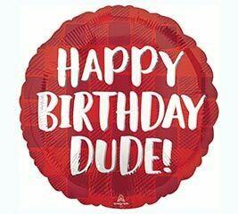 17 - RED PLAID BIRTHDAY DUDE