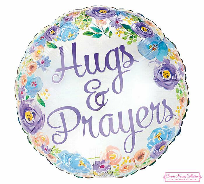 "17"" FLORAL HUGS & PRAYERS"
