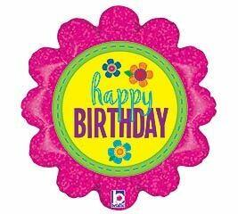 18 - BUTTON FLOWER BIRTHDAY