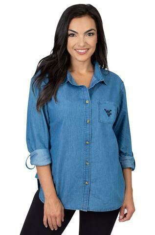 WVU THE DENIM SHIRT -  UG APPAREL