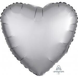 17 - SATIN HEART SOLID SILVER