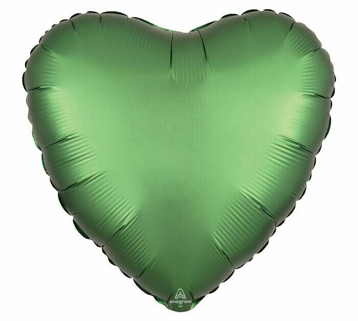 "17"" SATIN HEART SOLID EMERALD"